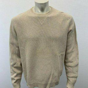 Eddie Bauer Men's Large Beige Ribbed sweater